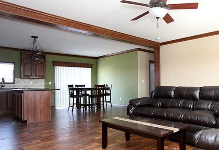 CMH Schult Richmond Mobile Home Living Room and Dining Area