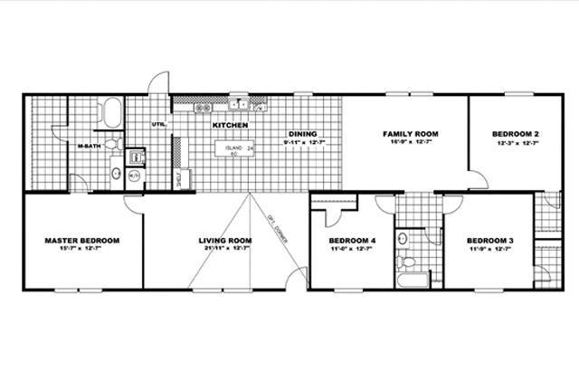 TruMH Steal II / Wonder Mobile Home Floor Plan