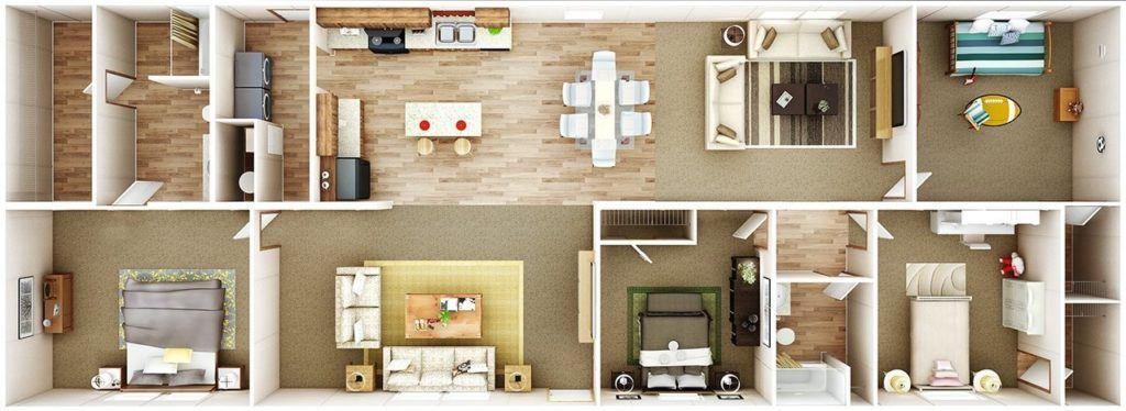 TruMH Steal II / Wonder Mobile Home 3D Floor Plan
