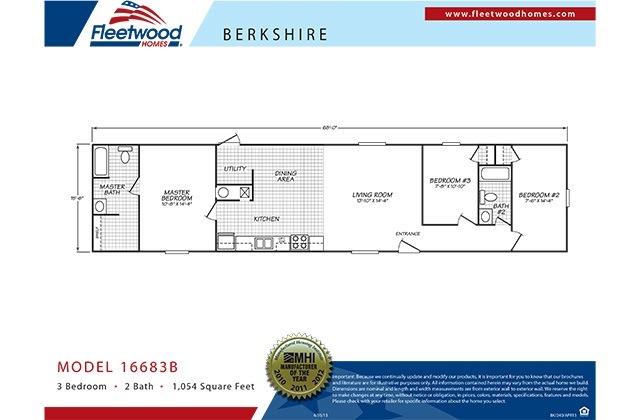 The Berkshire 3/2 Singlewide