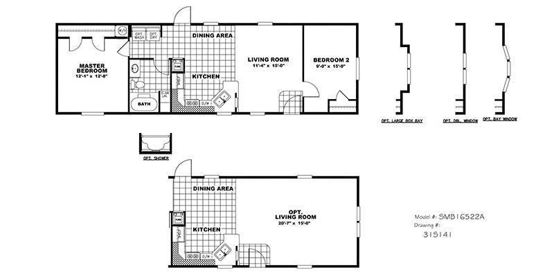 CMH Smart Buy Mobile Home Floor Plan