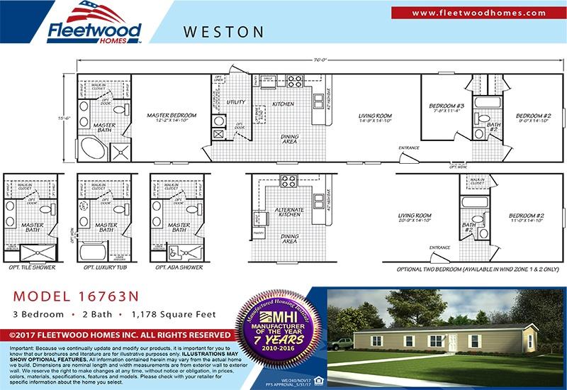 Weston Economy 3/2 Singlewide