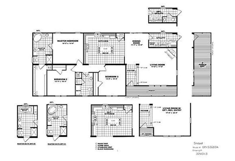 CMH Developer DEV32683A (Stretch) Mobile Home Floor Plan