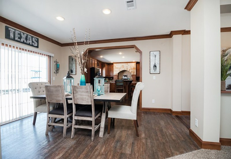 The Snead DEV32683A Mobile Home Dining Area