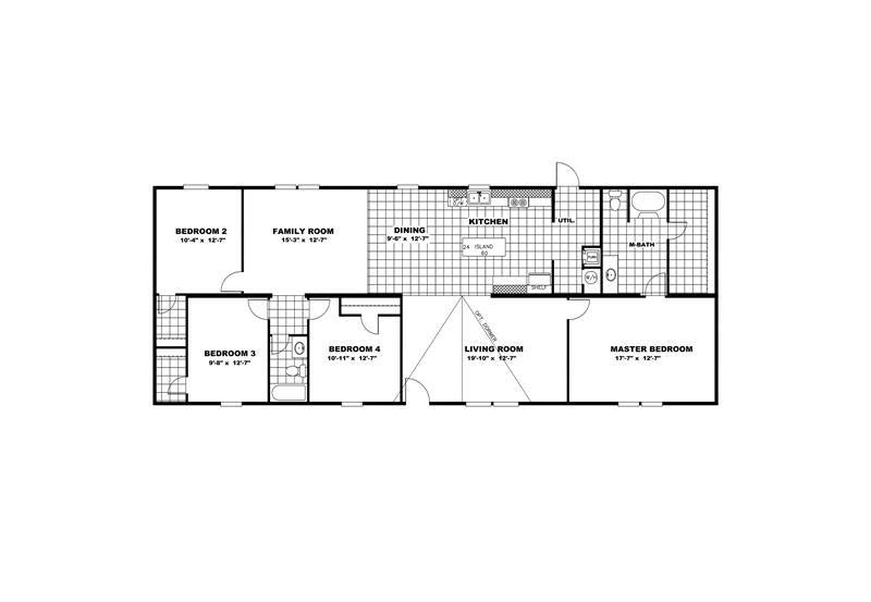 TruMH Tyson / Pride Mobile Home Floor Plan
