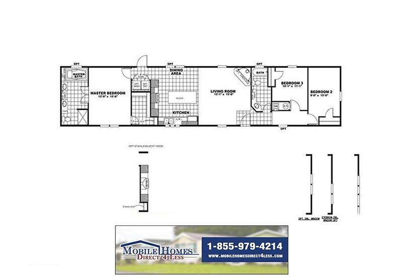 CMH Smart Buy SMB16803C Mobile Home Branded Floor Plan