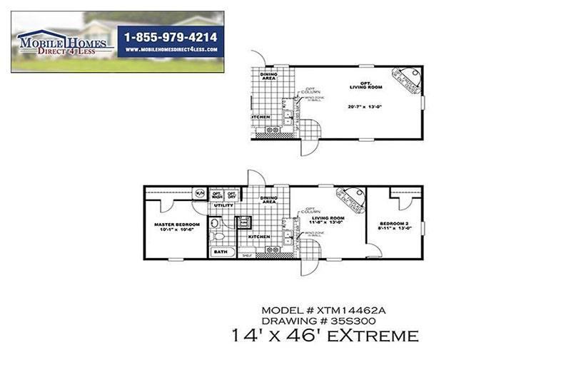 Bonham Spirit Mobile Home Branded Floor Plan