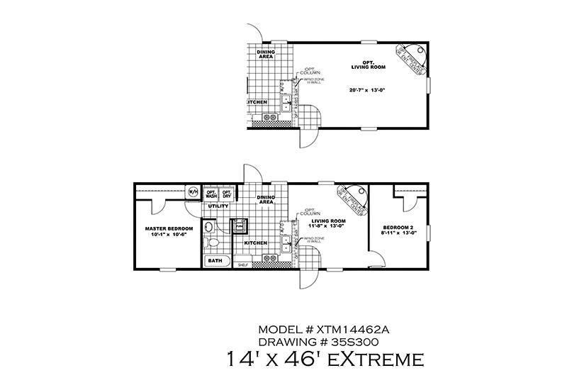 Bonham Spirit Mobile Home Floor Plan