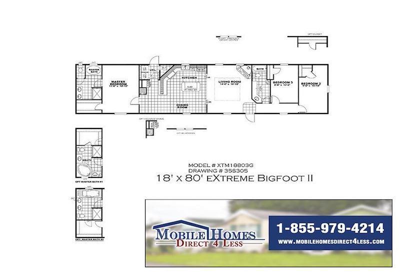 XTM18803G Mobile Home Branded Floor Plan