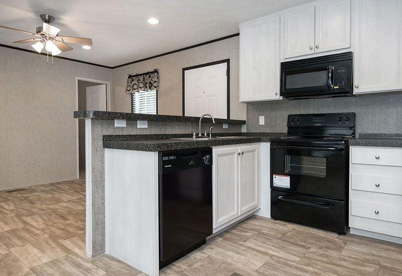 Bonham Spirit Mobile Home Kitchen and Living Room