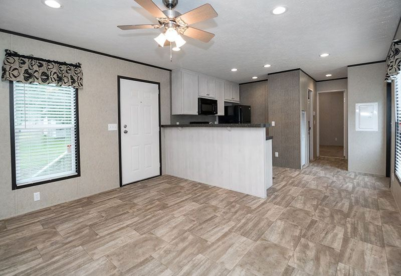 Bonham Spirit Mobile Home Living Room and Kitchen