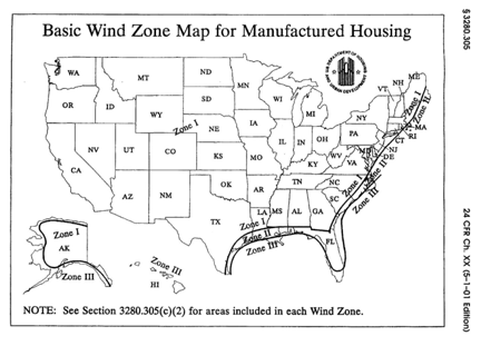 Wind Zones And Your Mobile Home