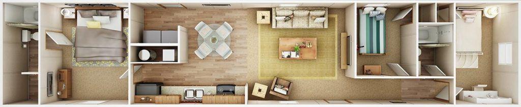 TruMH Frazier / Euphoria Mobile Home 3D Floor Plan
