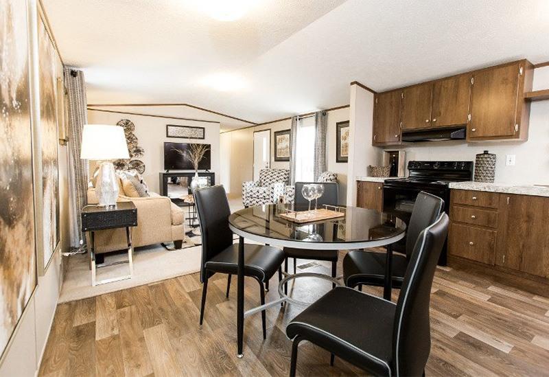 TruMH Frazier / Euphoria Mobile Home Dining Area and Living Room