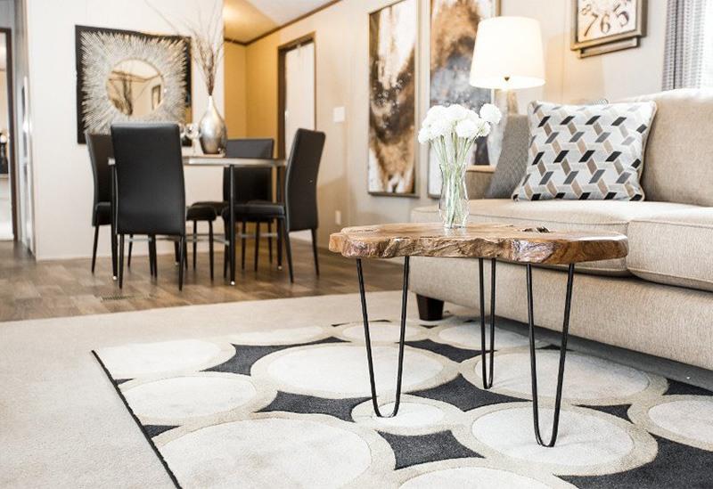 TruMH Frazier / Euphoria Mobile Home Living Room and Dining Area