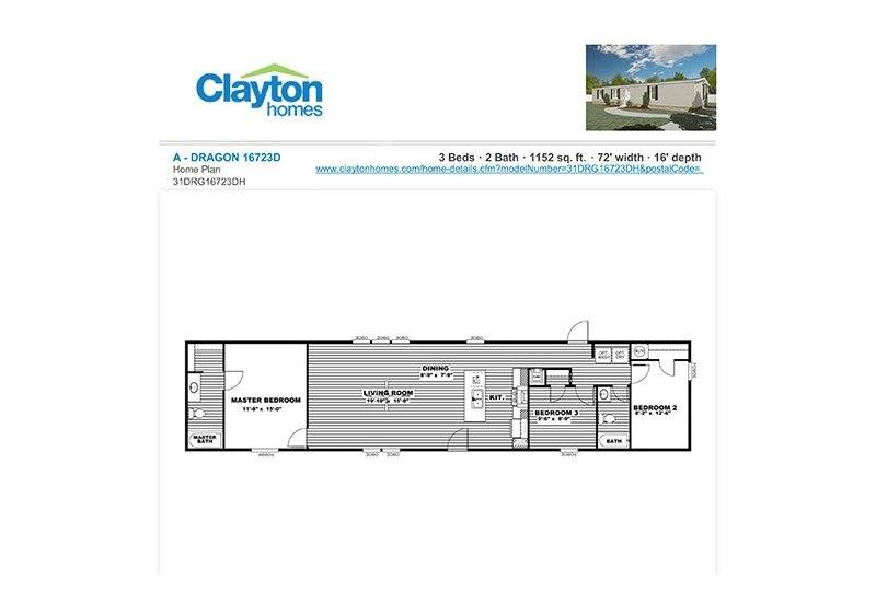 CMH Dragon Mobile Homes Direct 4 Less - Floor Plan
