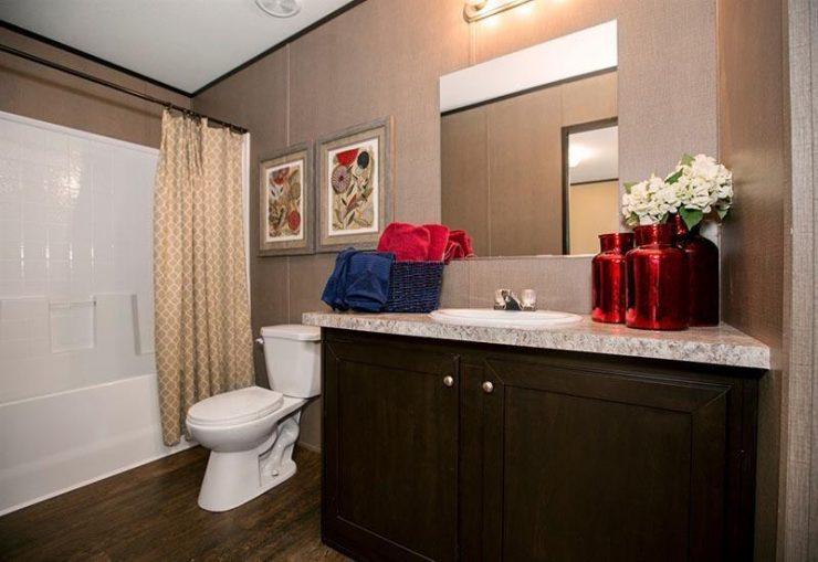 CMH Dragon Mobile Homes Direct 4 Less Master Bathroom