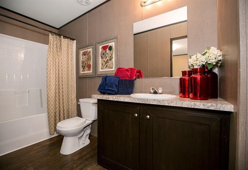 CMH Dragon Mobile Homes Direct 4 Less Master Bathroom