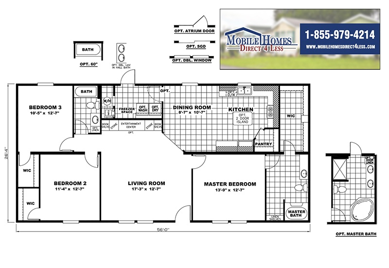 CMH Ace INS28563B Mobile Home Branded Floor Plan
