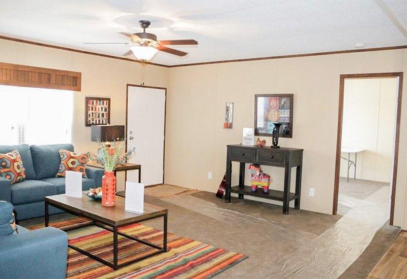 Fleetwood Berkshire 32403B Mobile Home Living Room