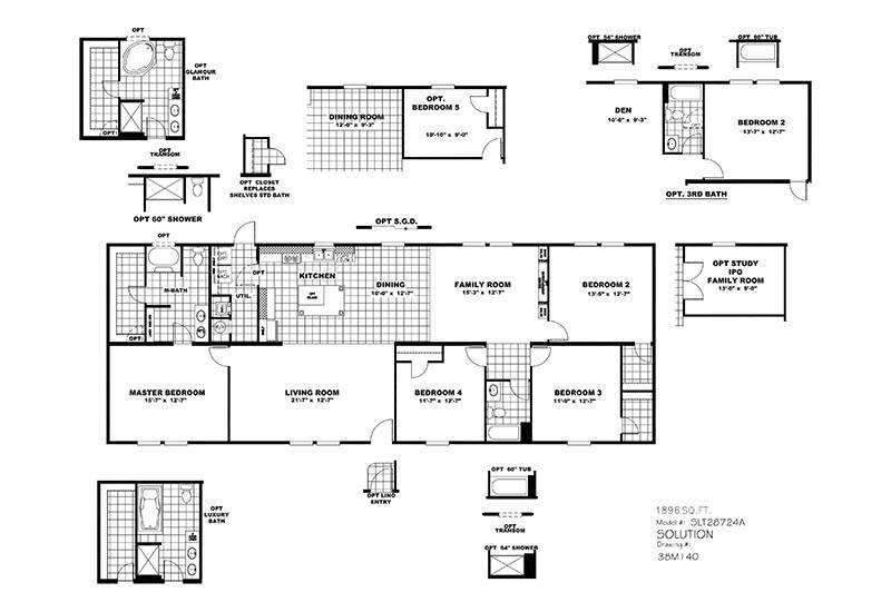CMH Choice SLT28724A Mobile Home Floor Plan