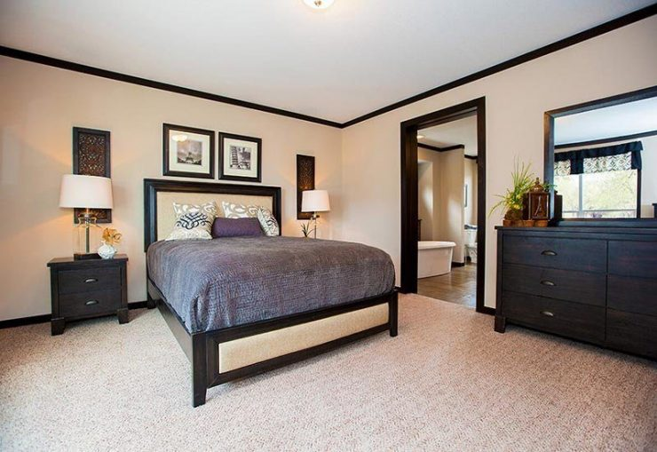 CMH Patriot PAR28563S Mobile Home Master Bedroom