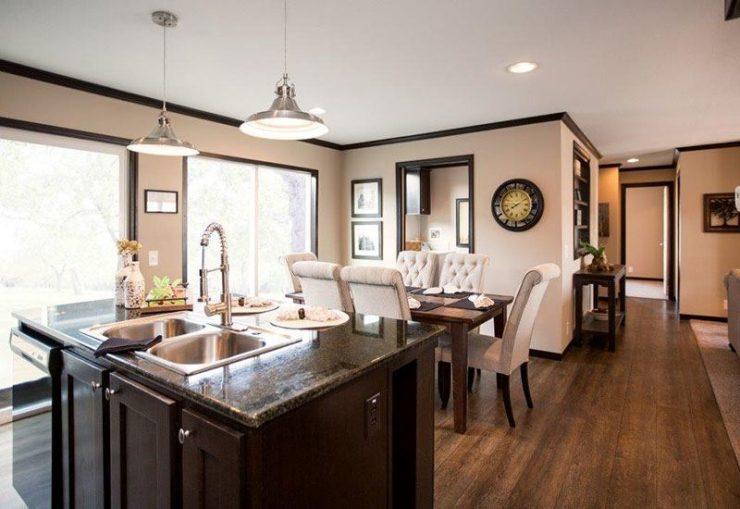 CMH Patriot PAR28563S Mobile Home Kitchen and Dining Area