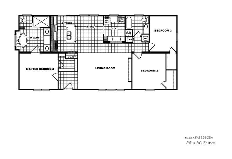 CMHPatriotPAR28563S - Floor Plan - Mobile Homes Direct 4 Less