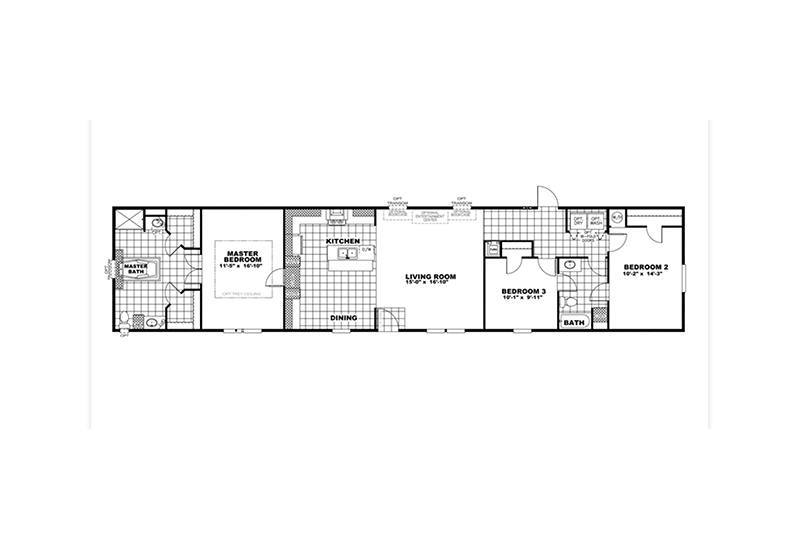 CMH Xtreme Admiral Mobile Home Floor Plan