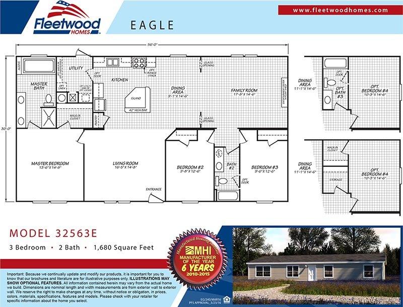 FleetwoodEagle32563E - Floor Plan - Mobile Homes Direct 4 Less