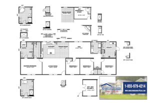 CMH Absolute Value SLT28764A Mobile Home Branded Floor Plan