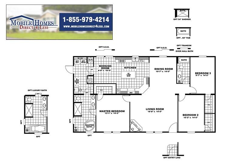 CMH Goodlife INS32563V Mobile Home Branded Floor Plan