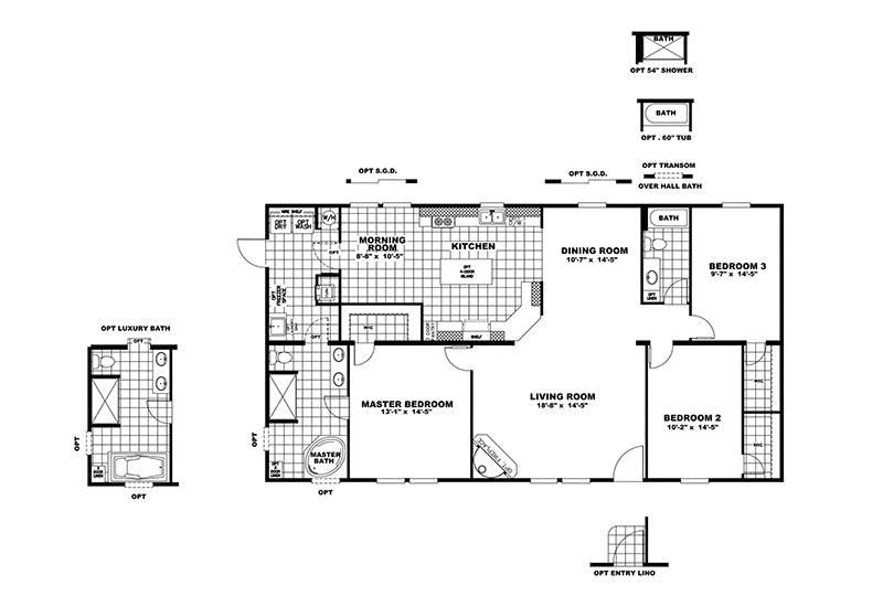 CMH Goodlife INS32563V Mobile Home Floor Plan