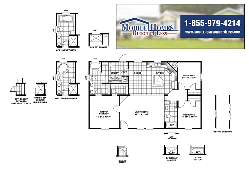 CMH Infinite Value SLT28443A Mobile Home Branded Floor Plan