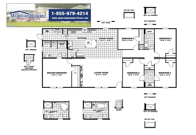 CMH King SLT32685A Mobile Home Branded Floor Plan