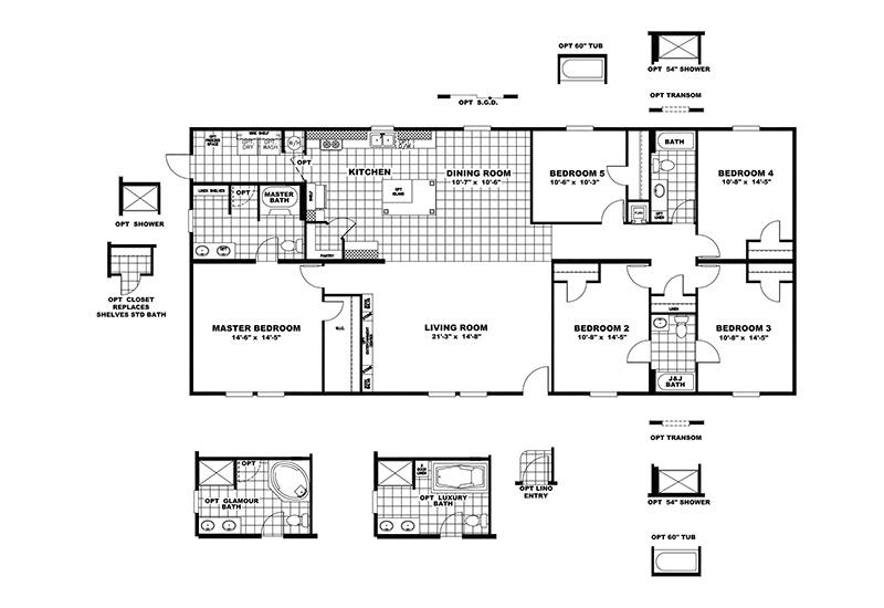 CMH King SLT32685A Mobile Home Floor Plan