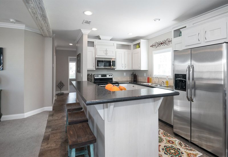 Manufactured-THE-PALMER-32DEV24442AH-Kitchen-20170925-0758174672702 Mobile Home Interior With Gray Island Design Ideas on