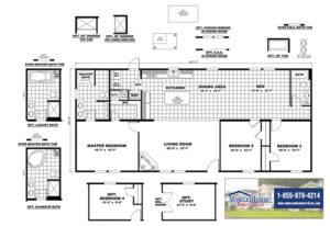 CMH Sundowner SLT28603A Mobile Home Branded Floor Plan