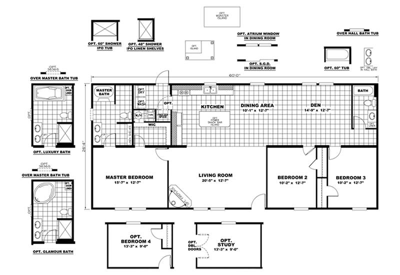 CMH Sundowner SLT28603A Mobile Home Floor Plan