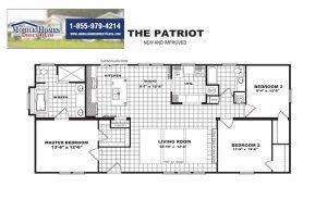Patriot Mobile Home - Branded Floor Plan