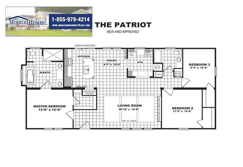 Patriot Mobile Home - Branded Floor Plan