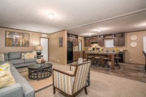 CMH Choice Mobile Home Living Room and Kitchen