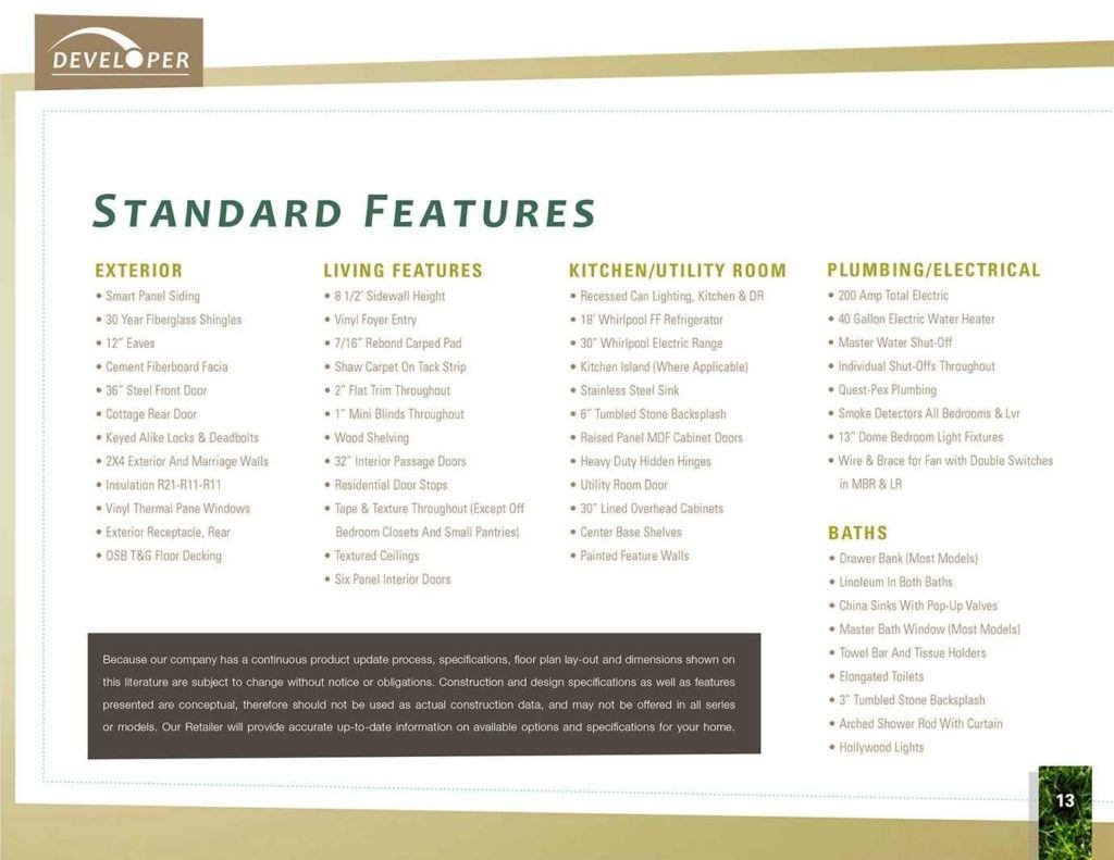 Waco-2-Developer Standard Features