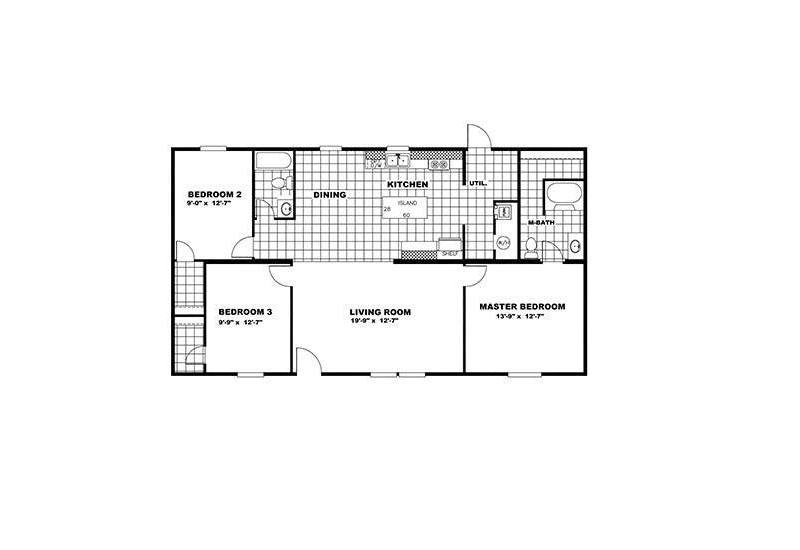 TruMH Money / Satisfaction Mobile Home Floor Plan