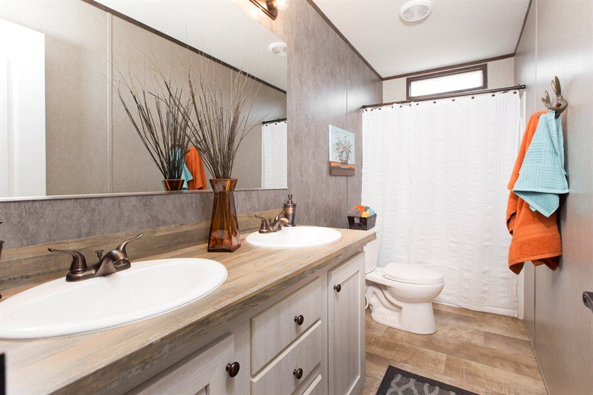 CMH Smart Buy SMB16803W Mobile Home Guest Bathroom