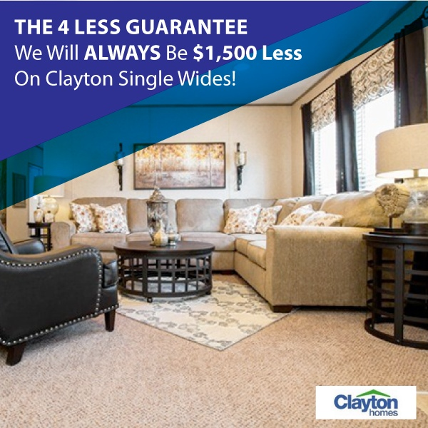 Clayton Single Wides Upfront Pricing On High Quality Homes