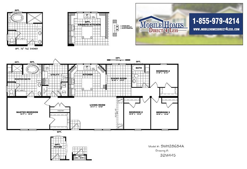 Clayton Schult Newport Mobile Home Branded Floor Plan
