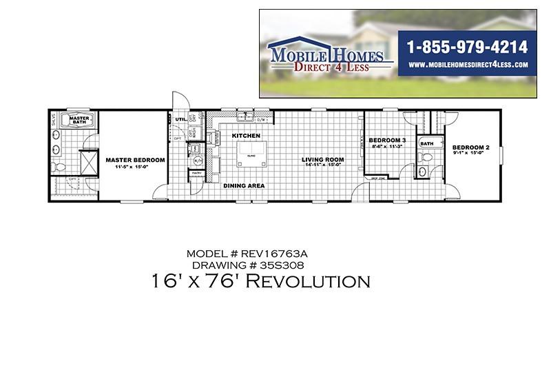 The Revolution REV16763A Mobile Home Branded Floor Plan