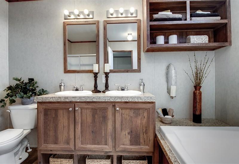 The Revolution REV16763A Mobile Home Master Bathroom