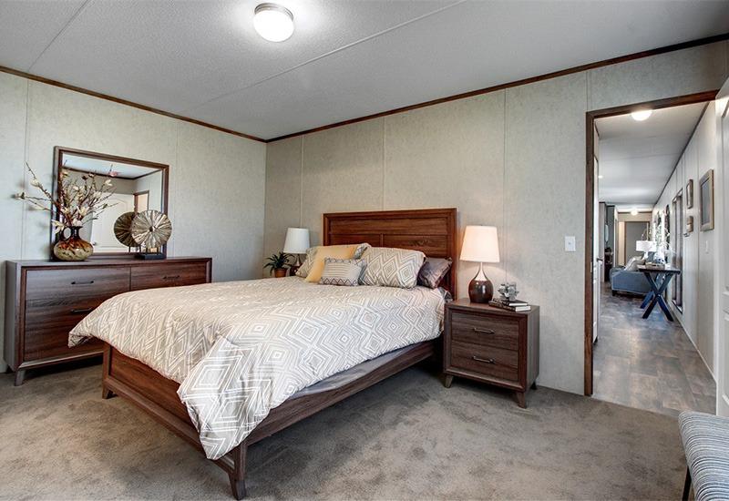 The Revolution REV16763A Mobile Home Master Bedroom